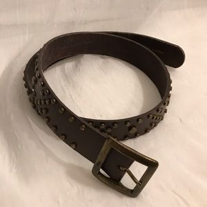 NY&Co. Brown leather Belt with Gold Studs